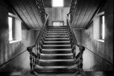 Ancient stairs Colonial style in abandoned house  Schody Fototapeta