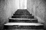 Old scary stone stairs  Schody Fototapeta