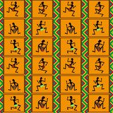 Seamless pattern - dance of black people, vector illustration  Afryka Fototapeta