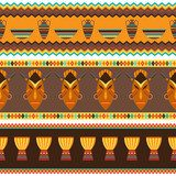 Ethnic african abstract geometric seamless fabric pattern.  Afryka Fototapeta