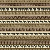 African style seamless pattern with wild animals.  Afryka Fototapeta