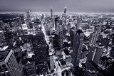 Aerial view of Chicago downtown  Fototapety Miasta Fototapeta