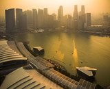 Sunset at Marina bay  Fototapety Miasta Fototapeta