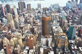 Cityscape view of Manhattan from Empire State Building  Fototapety Miasta Fototapeta