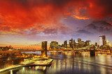New York City - Manhattan skyline at winter sunset  Miasta Fototapeta