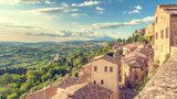 Landscape of the Tuscany seen from the walls of Montepulciano, I  Fototapety Miasta Fototapeta