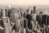 Skyline of Manhattan, NYC - sepia image  Miasta Fototapeta
