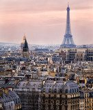 View of Paris and of the Eiffel Tower from Above  Fototapety Wieża Eiffla Fototapeta