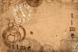 Grunge Abstract Background Time Concept  Sepia Fototapeta