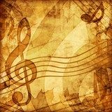 vintage music background  Sepia Fototapeta