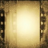 grunge film strip background  Sepia Fototapeta