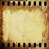 old rusty grunge blank film strip background  Sepia Fototapeta