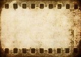 old grunge film strip background  Sepia Fototapeta