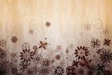 Digitally generated girly floral design  Sepia Fototapeta