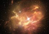 Supernova explosion with nebula in the background  Fototapety Kosmos Fototapeta