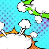 Pop-Art speech clouds abstract retro style banner  Komiks Fototapeta