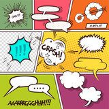 Comic Strip Speech Bubbles  Komiks Fototapeta