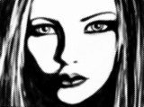 Girl face  Drawn Sketch Fototapeta