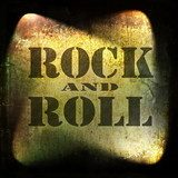 rock and roll music, old rusty wall background  Fototapety do Pokoju Nastolatka Fototapeta