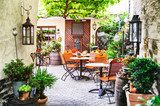 Summer cafe terrace  Fototapety do Kawiarni Fototapeta