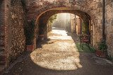 Unknown streets in the old medieval town in Italy  Fototapety Uliczki Fototapeta