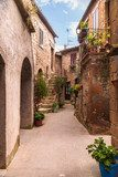 Nooks and crannies in the Tuscan town, Italy  Uliczki Fototapeta