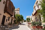 Old town in Rethymno city on the island of Crete. Greece.  Uliczki Fototapeta