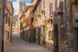 The medieval old town in Tuscany, Italy  Fototapety Uliczki Fototapeta
