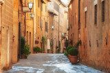 The old town and the streets of the medieval period Pienza, Ital  Uliczki Fototapeta