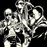 jazz band with  trumpet and double bass  Muzyka Obraz
