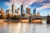 Melbourne skyline from Southbank  Obrazy do Salonu Obraz