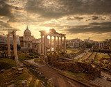 Famous Roman ruins in Rome, Capital city of Italy  Obrazy do Salonu Obraz