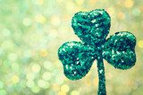Saint Patricks Day green clover ornament  Biuro Plakat