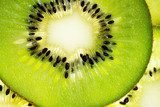 Close up of a healthy kiwi fruit  Owoce Obraz