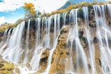 beautiful nuorilang waterfall in autumn  Fototapety Wodospad Fototapeta