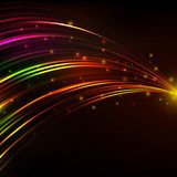 abstract vector background with bright lines Neony Fototapeta