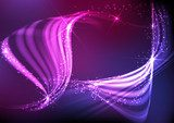 Abstract neon waves. Neony Fototapeta