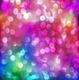 abstract background with neon bright bokeh Fototapety Neony Fototapeta