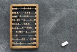 vintage abacus with chalk Plakaty do Biura Plakat