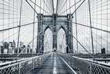 Black and white Brooklyn Bridge Industrialne Fototapeta