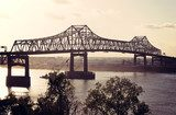 Bridge on Mississippi River in Baton Rouge Industrialne Fototapeta