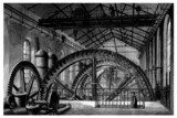 Factory 19th century : Hydraulic Factory Wheel - Roue Industrialne Fototapeta