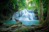 Waterfall in the forest at Huay Mae Kamin waterfall National Par Fototapety Wodospad Fototapeta