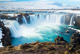 Goddafoss,the one of the most spectacular waterfalls in Iceland. Wodospad Fototapeta