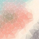 Geometric pattern with triangles in pastel tints Pastele Fototapeta