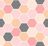 Hexagon Seamless Pattern Pastele Fototapeta