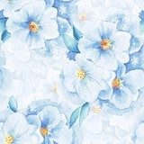 Delicate flowers. Seamless floral pattern. Watercolor background 1 Pastele Fototapeta
