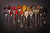 Various spices spoons Obrazy do Jadalni Obraz