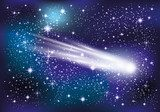 Comet in space. Kosmos Fototapeta