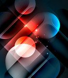 Vector glowing geometric shapes background Abstrakcja Obraz